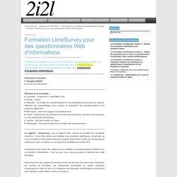 Formations logiciels libres - 2i2l : Formation LimeSurvey pour des questionnaires Web d'informations