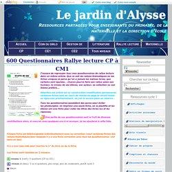 600 Questionnaires Rallye lecture CP à CM1