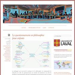 Le questionnement en philosophie pour enfants « Philosophie pour les enfants à l'Université Laval