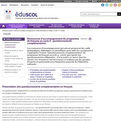 Français - Ressources français C4 : questionnements complémentaires