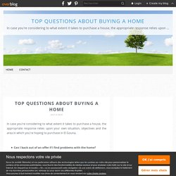 Top questions about buying a home - Top questions about buying a home