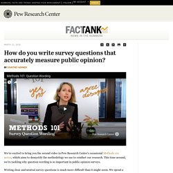 How do you write survey questions that accurately measure public opinion?