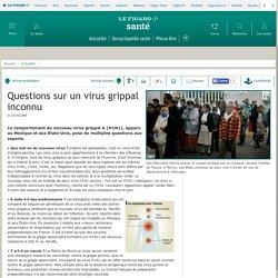 Questions sur un virus grippal inconnu
