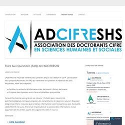 Foire Aux Questions (FAQ) de l'ADCIFRESHS
