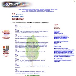 25 Questions & Answers about Kabbalah