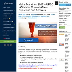 IAS Questions and Answers - Mains Marathon 2017