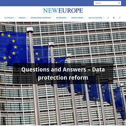 Questions and Answers – Data protection reform