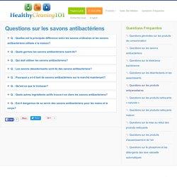 Questions sur les savons antibactériens