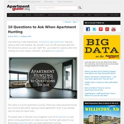 10 Questions to Ask When Apartment Hunting