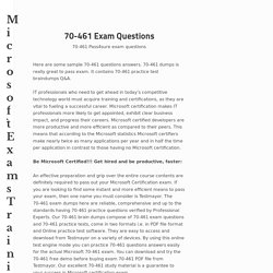 70-461 Exam Questions Archives - Microsoft Exams Training