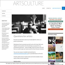 Questions for artists - artsculture