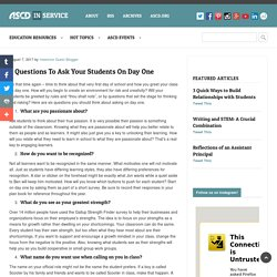 6 Questions To Ask Your Students On Day One
