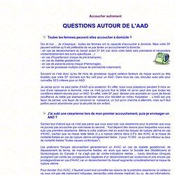 Questions autour de l'AAD