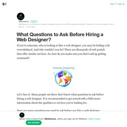 What Questions to Ask Before Hiring a Web Designer?