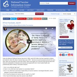 Ask 8 Questions Before You Vaccinate – NVIC