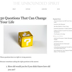 50 Questions That Can Change Your Life