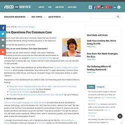 Five Questions for Common Core