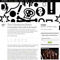 The 5 Questions Every Company Should Ask Itself