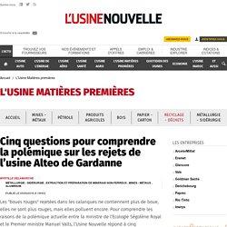 Cinq questions pour comprendre la polémique sur les rejets de l'usine Alteo de Gardanne - L'Usine Matières premières