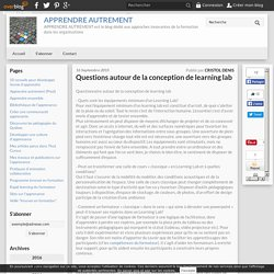 8 - Questions autour de la conception de learning lab