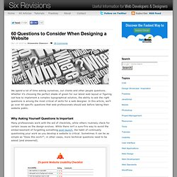60 Questions to Consider When Designing a Website