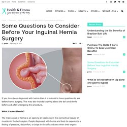Some Questions to Consider Before Your Inguinal Hernia Surgery