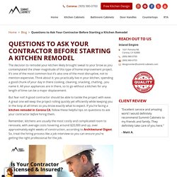 Questions to Ask Your Contractor Before Starting a Kitchen Remodel