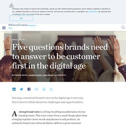 Five questions brands need to answer to be customer first in the digital age