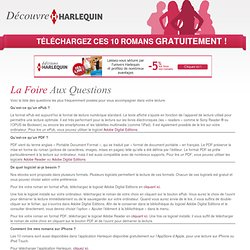 La Foire Aux Questions - Découvre Harlequin