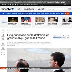 Cinq questions sur la déflation, ce grand mal qui guette la France
