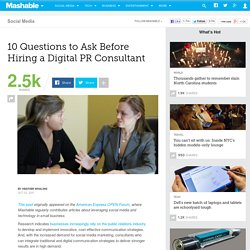 10 Questions to Ask Before Hiring a Digital PR Consultant