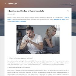 4 Questions About the Cost of Divorce in Australia