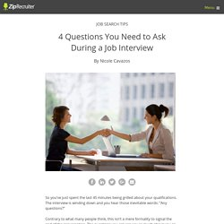 Questions You Need to Ask During a Job Interview