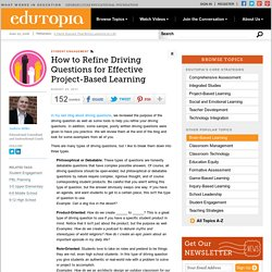 How to Refine Driving Questions for Effective Project-Based Learning