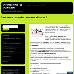 Savez-vous poser des questions efficaces ?