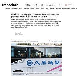 FRANCE INFO 28/01/21 Covid-19 : cinq questions sur l'enquête menée par des experts de l'OMS en Chine