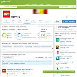 Questions d'entretiens chez Lego Group