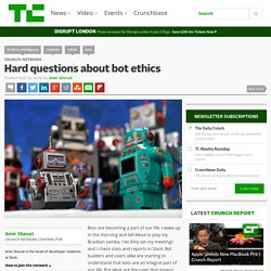 Hard questions about bot ethics