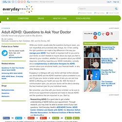 Adult ADHD Questions - ADHD Center