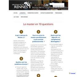 Le master en 10 questions - Master E-formation (Université Rennes)