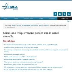 Questions fréquemment posées sur la santé sexuelle