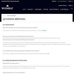 Questions fréquentes – Wombat