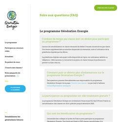 Sensibilisation aux économies d'énergie