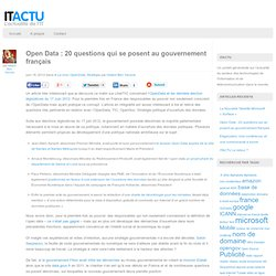 Open Data : 20 questions qui se posent au gouvernement français