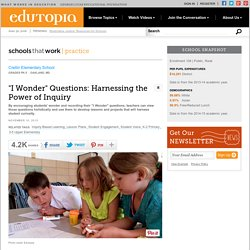 """I Wonder"" Questions: Harnessing the Power of Inquiry"