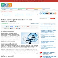 8 Must Answer Questions Before You Start Inbound Marketing