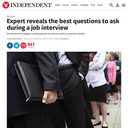 Expert reveals the best questions to ask during a job interview