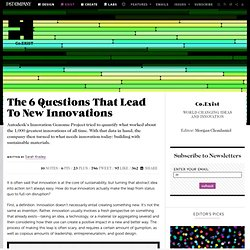 The 6 Questions That Lead To New Innovations