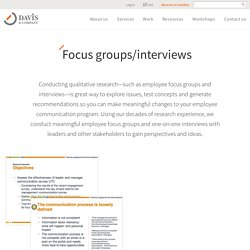 Employee Focus Group Questions, Interview Best Practices