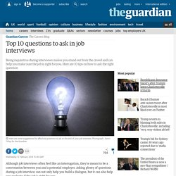 Top 10 questions to ask in job interviews